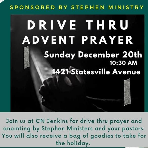 Drive thru Advent Prayer